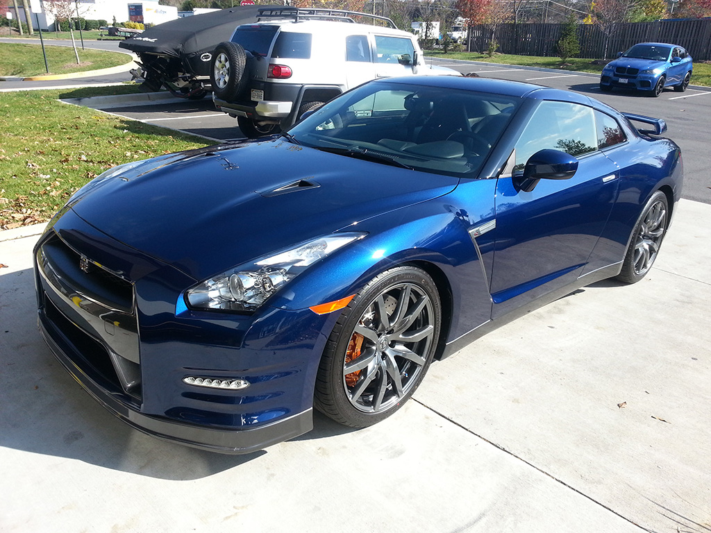 Nissan GT-R with Paint Protection Film Installed